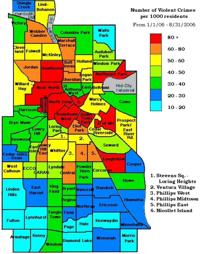 Popular 253 List North Minneapolis Crime Map